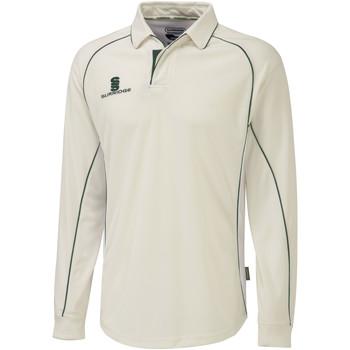 Textil Homem Polos mangas compridas Surridge  Guarnição branca/verde