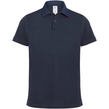 Textil Homem Polos mangas curta B And C BA803 Denim / Marinha