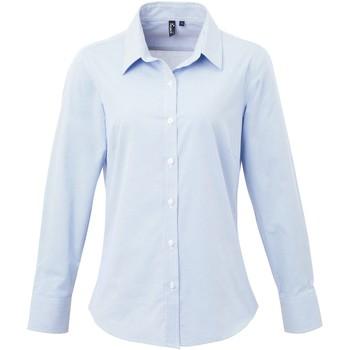 Textil Mulher camisas Premier PR320 Azul claro/branco