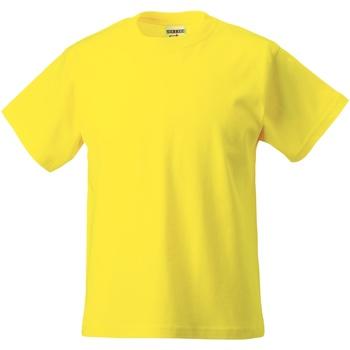 Textil Criança T-Shirt mangas curtas Jerzees Schoolgear ZT180B Amarelo