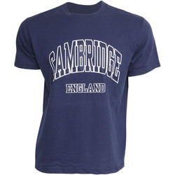 Textil Homem T-Shirt mangas curtas Cambridge University  Marinha