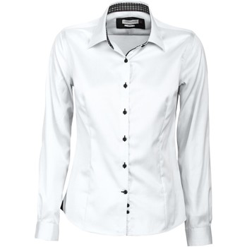 Textil Mulher camisas J Harvest & Frost JF006 Branco/ Negro