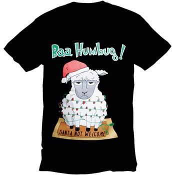 Textil Homem T-Shirt mangas curtas Christmas Shop 178642 Humbug preto Bah