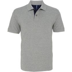 Textil Homem Polos mangas curta Asquith & Fox AQ012 Heather / Marinha