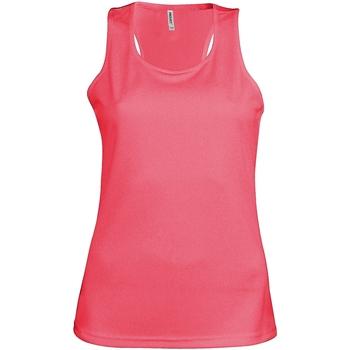 Textil Mulher Tops sem mangas Kariban Proact Proact Fluorescente Rosa