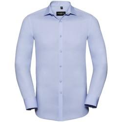 Textil Homem Camisas mangas comprida Russell 960M Céu Brilhante