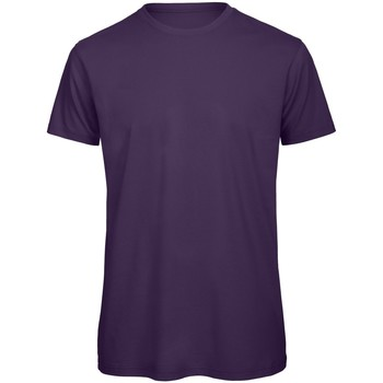 Textil Homem T-Shirt mangas curtas B And C TM042 Púrpura Urbana