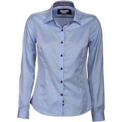 Textil Mulher camisas J Harvest & Frost JF006 Céu / Marinha