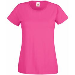 Textil Mulher T-Shirt mangas curtas Universal Textiles 61372 Rosa Quente