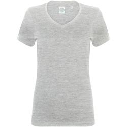 Textil Mulher T-Shirt mangas curtas Skinni Fit SK122 Heather Grey