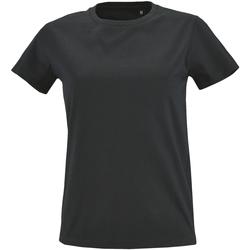 Textil Mulher T-Shirt mangas curtas Sols 2080 Cinza Escuro