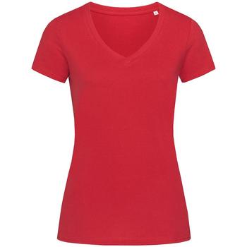 Textil Mulher T-Shirt mangas curtas Stedman Stars Janet Pepper Red