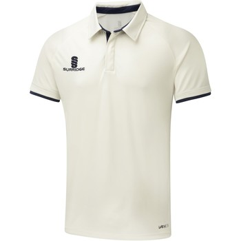 Textil Rapaz Polos mangas curta Surridge SU13B Branco/Navy trim