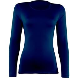 Textil Mulher T-shirt mangas compridas Rhino RH003 Marinha