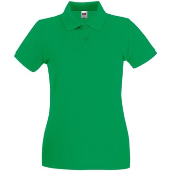 Textil Mulher Polos mangas curta Fruit Of The Loom 63030 Kelly Green