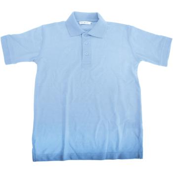 Textil Rapaz Polos mangas curta Kustom Kit KK406 Azul claro