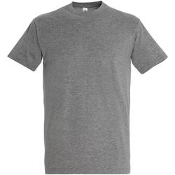 Textil Homem T-Shirt mangas curtas Sols 11500 Grey Marl