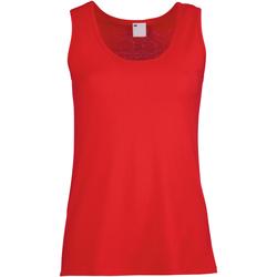 Textil Mulher Tops sem mangas Universal Textiles Fitted Vermelho clássico