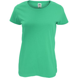 Textil Mulher T-Shirt mangas curtas Fruit Of The Loom 61420 Kelly Green
