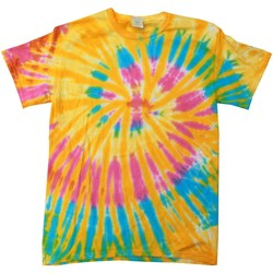 Textil Mulher T-Shirt mangas curtas Colortone Rainbow Aurora