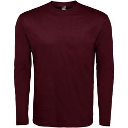 Textil Homem T-shirt mangas compridas Sols Monarch Oxblood