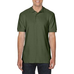 Textil Homem Polos mangas curta Gildan Premium Verde Militar