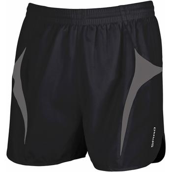 Textil Homem Shorts / Bermudas Spiro S183X Preto/Cinza
