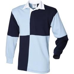 Textil Homem Polos mangas compridas Front Row FR02M Marinha/Esquilo (colarinho branco)
