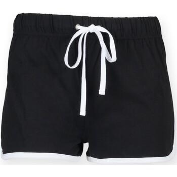 Textil Criança Shorts / Bermudas Skinni Fit SM069 Preto / Branco