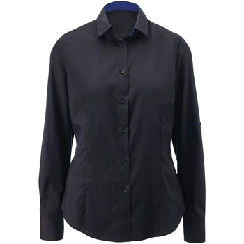 Textil Mulher camisas Alexandra AX060 Preto/ Real