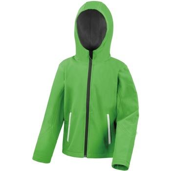 Textil Criança Jaquetas Result R224JY Vívido Verde/Preto