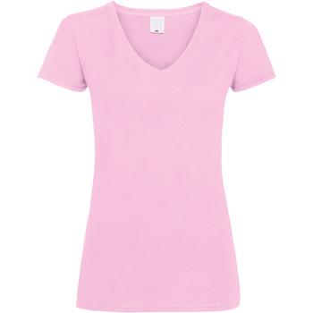 Textil Mulher T-Shirt mangas curtas Universal Textiles Value Baby Pink