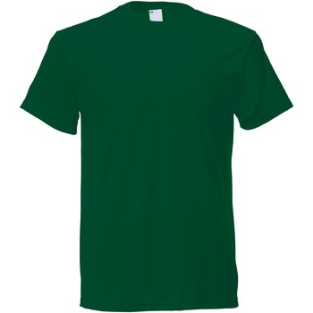 Textil Homem T-Shirt mangas curtas Universal Textiles 61082 Verde Escuro