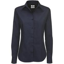 Textil Mulher camisas B And C SWT83 Azul-marinho