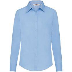 Textil Mulher camisas Fruit Of The Loom 65012 Azul Médio