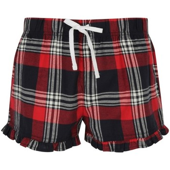 Textil Mulher Shorts / Bermudas Skinni Fit SK082 Cheque Vermelho/Navio