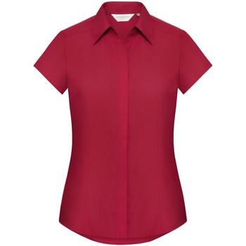 Textil Mulher camisas Russell 925F Vermelho clássico
