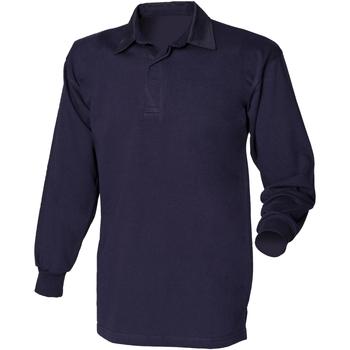 Textil Homem Polos mangas compridas Front Row FR100 Marinha/Navio