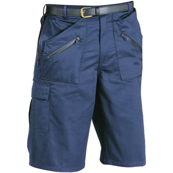Textil Homem Shorts / Bermudas Portwest PW103 Marinha Negra