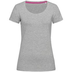 Textil Mulher T-Shirt mangas curtas Stedman Stars  Heather Grey