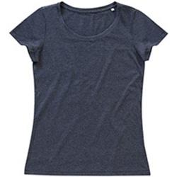 Textil Mulher T-Shirt mangas curtas Stedman Stars Lisa Carvão Heather Grey
