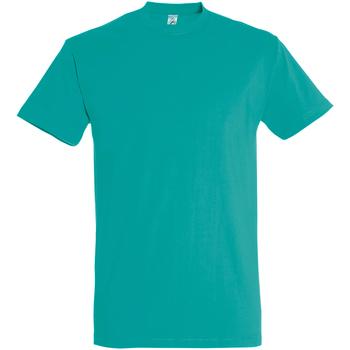 Textil Homem T-Shirt mangas curtas Sols 11500 Azul Caribe
