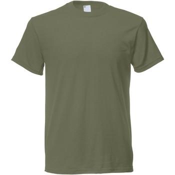 Textil Homem T-Shirt mangas curtas Universal Textiles 61082 Verde oliva