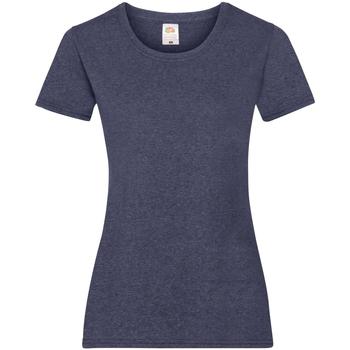Textil Mulher T-Shirt mangas curtas Fruit Of The Loom 61372 Vintage Heather Navy
