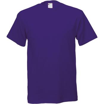 Textil Homem T-Shirt mangas curtas Universal Textiles 61082 Uva