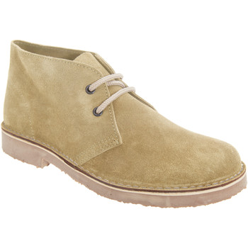 Sapatos Mulher Botas baixas Roamers Round Toe Camelo