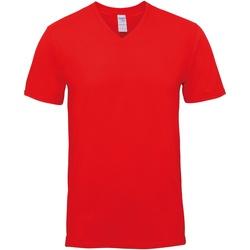 Textil Homem T-Shirt mangas curtas Gildan GD016 Vermelho