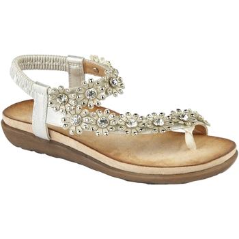 Sapatos Mulher Sandálias Cipriata  Prata clara