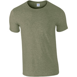 Textil Homem T-Shirt mangas curtas Gildan Soft-Style Heather Military Green