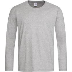 Textil Homem T-shirt mangas compridas Stedman  Heather Grey